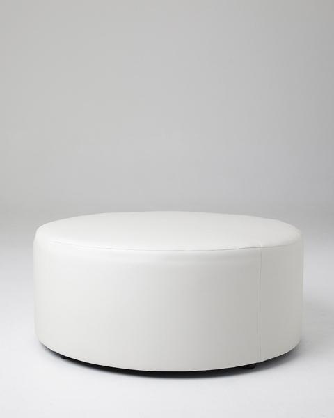 The round ottoman are 1 metre wide x 1 metre deep x 50 cm high. - White Ottoman Cymun Designs